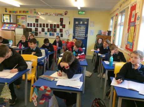 Primary 5 Working Hard